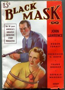 Black Mask Pulp August 1938- Frank Gruber- Frederick C Davis VF-