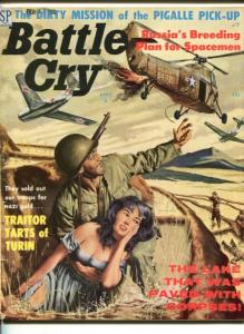 BATTLE CRY- APR 1959-STANLEY PUBS-SPICY BABE COVER-RUSSUANS-TERROR-vg/fn