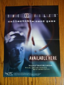 """22""""x17"""" X-Files Collectible Card Game David Duchovny Promo Poster NO PIN HOLES"""