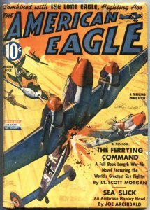 AMERICAN EAGLE-WINTER 1943-WW II HERO PULP-BELARSKI AIR WAR COVER ART