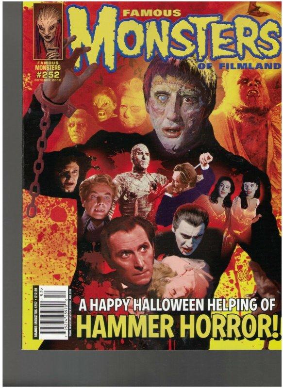 FAMOUS MONSTERS OF FILMLAND #252 HAMMER HORROR VARIANT COVER NM.