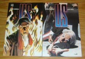 U.S. #1-2 VF/NM complete series ALEX ROSS uncle sam vertigo comics set lot 1997