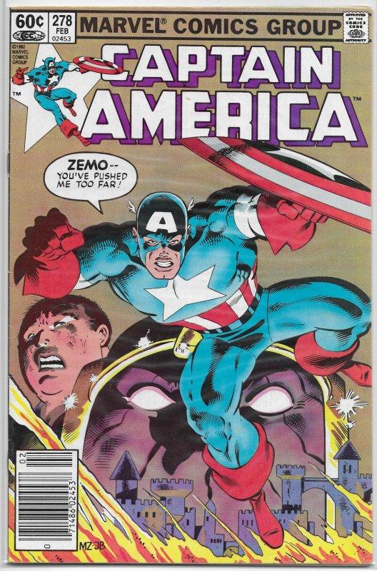 Captain America   vol. 1   #278 VG DeMatteis/Zeck, Baron Zemo