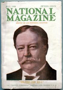 National Magazine Pulp July 1908- William Howard Taft VG