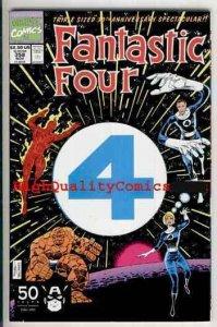 FANTASTIC FOUR #358, NM, Thing, 1991, Die-cut, 30th Anniversary, Human Torch