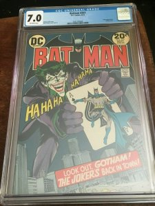 BATMAN #251 - CGC 7.0 - FN/VF - CLASSIC JOKER CVR - NEAL ADAMS - BRONZE AGE KEY