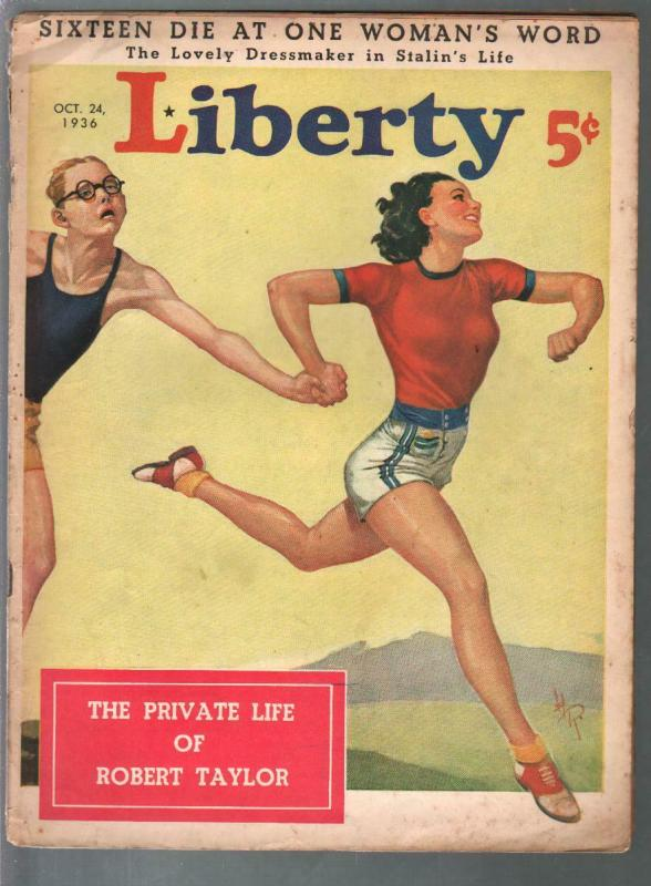 Liberty 10/24/1936-Hubbell Reed cover-Walter Baumhofer-pulp fiction-FR