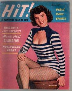 Hit! 3/1950-Bridget Carr-cheesecake-Earl Moran-midgets-swimsuits-glamour-FN-