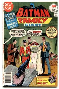 Batman Family #11 1977-DC Robin marries Batgirl