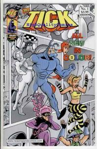 TICK COLOR #1, NM+, Variant, Ben Edlund, Crazy, 2001, more Tick in store