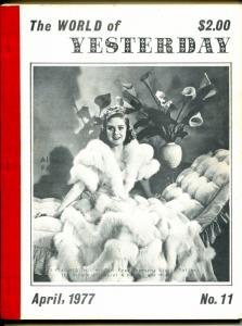 World of Yesterday #11 4/1977-Alice Faye-Laurel & Hardy-Fred Thompson-VG