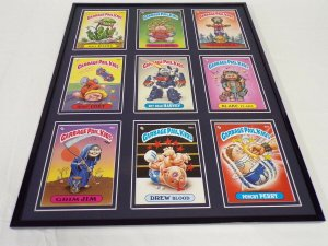 Garbage Pail Kids Framed 16x20 Display Grim Jim Drew Blood Punch Perry
