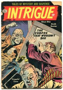 Intrigue #1 1955- Jack Cole- Pre-Code Horror Golden Age G/VG