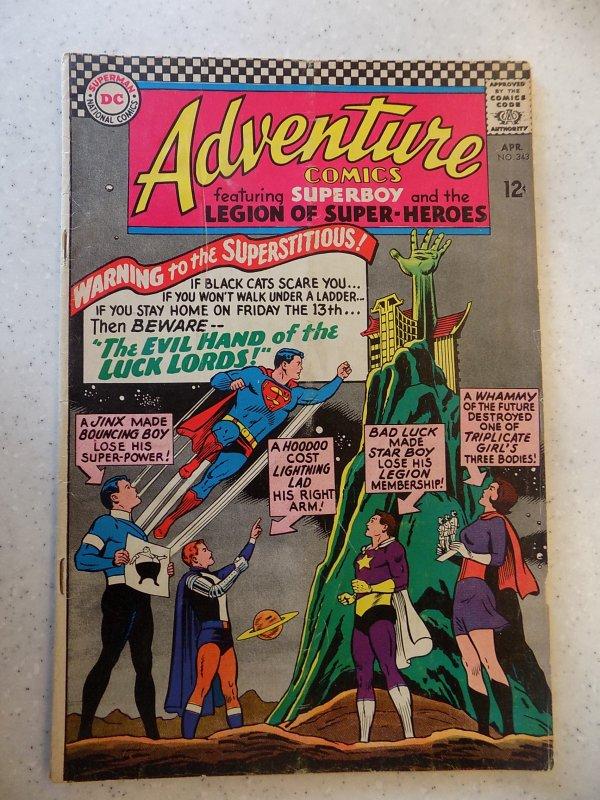 ADVENTURE COMICS # 343 DC ACTION SUPERBOY LEGION SUPER-HEROES