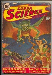 Super Science Stories 6/1947-Rare Canadian variant-Frank Belknap Long-Malcolm...