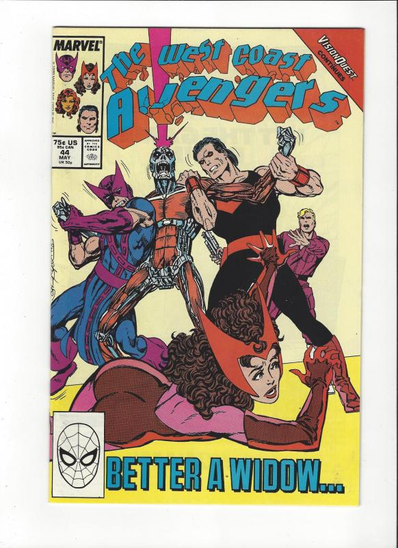 West Coast Avengers #44  Byrne Art  NM