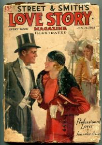 Love Story Magazine January 14 1933-Romance Pulp reading copy