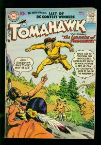 TOMAHAWK #478 1957- DC WESTERN - LEGENDS ISSUE- SILVER AGE-vg+