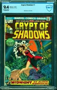 Crypt of Shadows #1 CBCS NM 9.4 Off White to White