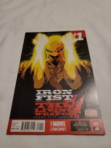 Iron Fist The Living Weapon 1 Near Mint- Cover by Alex Garner