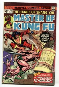 Master of Kung Fu #26 1974 comic book 1st appearance of the Cursed Lotus