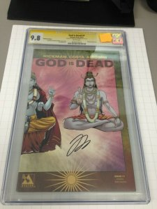 God is Dead 1 Pantheon Edition CGC 9.8 Signed by Jonathan Hickman