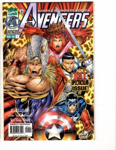 Lot Of 5 Avengers Marvel Comic Books # 1 (3, 2 Different Covers) 12 13 Hulk J202