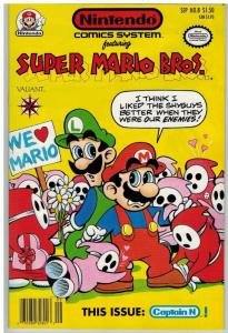 NINTENDO COMICS SYSTEM (1991VL)  8 VF Mario Bros