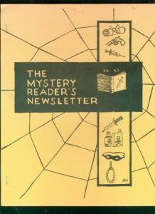 MYSTERY READER'S NEWSLETTER-OCT 1969-ERIC AMBLER-DETECT VG/FN