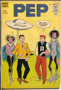 Pep #151 1961-Archie-flying saucer cover-aliens-Betty-Veronica-VG