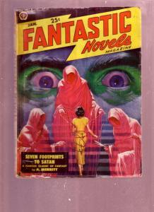 FANTASTIC NOVELS JAN 1949 PULP-A MERRITT HORROR ISSUE FR