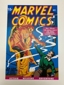 Marvel Comics #1 Human Torch poster by Frank Paul