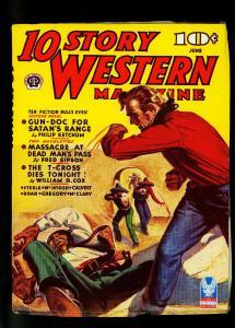 10 Story Western Pulp June 1943- Philip Ketchum- William Cox- VF