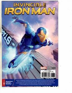 Invincible Iron Man # 13 NM 1st Print Variant Cover Marvel Comic Book MK2