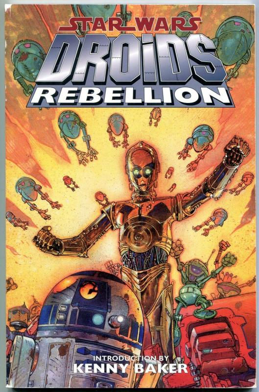 Star Wars: Droids Rebellion trade paperback-1st EDITION-IAN GIBSON VG