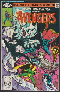 MARVEL SUPER ACTION / THE AVENGERS #22 - MARVEL COMICS 1980