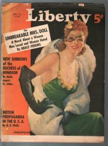 Liberty 1/15/1938-Jules Gotlieb Good Girl Art-Lily Pons-HG Wells-FR