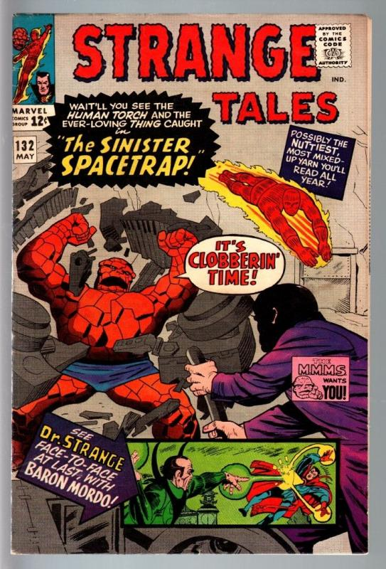STRANGE TALES #132--JACK KIRBY-HUMAN TORCH-SILVER AGE-MARVEL FN