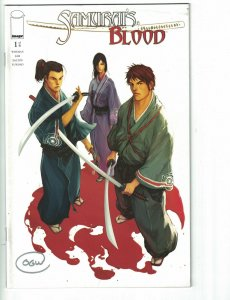 Samurai's Blood #1 VF white variant cover signed by Owen Wiseman - Image comics