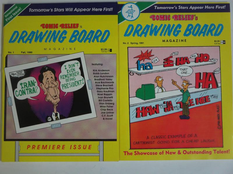 Comic Relief's Drawing Board Magazine #1, 2 Kirk Anderson Stephanie Piro Cartoon