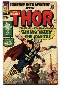 JOURNEY INTO MYSTERY #104- SILVER AGE MARVEL--THOR- JACK KIRBY VG+
