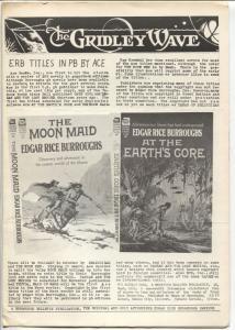 TGridley Wave #6 1962-Burroughs Bulletin-ERB & Tarzan fanzine-FN