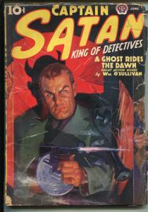 Captain Satan 26/1938-Popular Pubs-Tommy gun-strong cover colors-VG