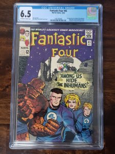 Fantastic Four 45 CGC 6.5 1st appearance of Lockjaw and the Inhumans