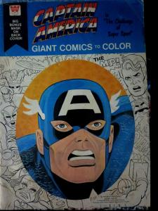 Captain America: Giant Comics to Color w/Bonus Mask (Whitman 1976) Super Sport