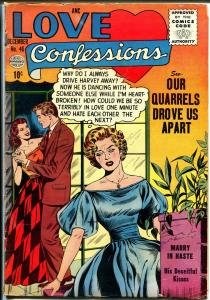 Love Confessions #46 1955-Quality-Spicy Romance Art-G