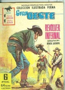 Gran Oeste numero 196: Revolver infernal, trasera foto ficha de Annie Girardot