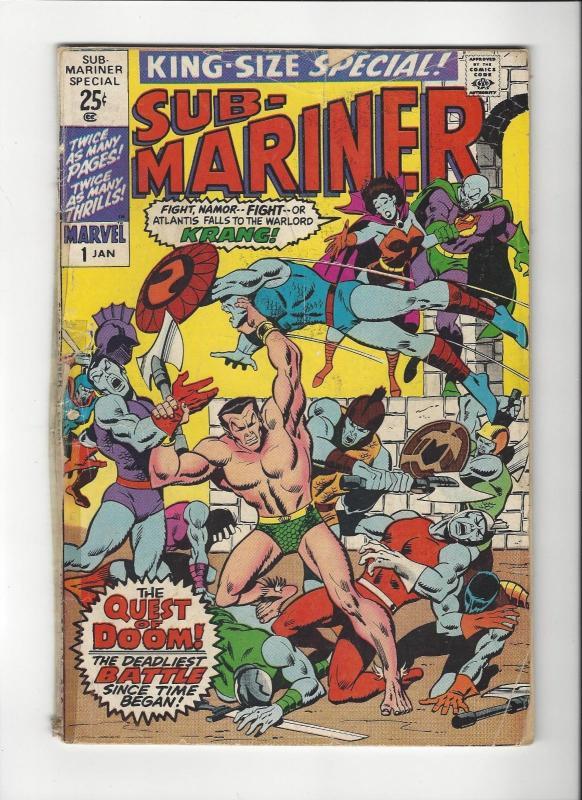 Submariner Special #2 Gene Colan Marvel Comics Low Grade