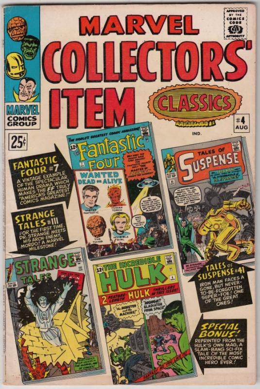 Marvel Collectors' Item #4 (Aug-66) VF/NM- High-Grade Fantastic Four, Mr. Fan...