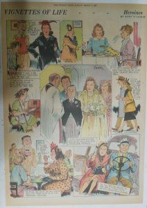 Vignettes Of Life by Kemp Starrett Heroines ! 3/1/1942 Size: 15 x 22 inch
